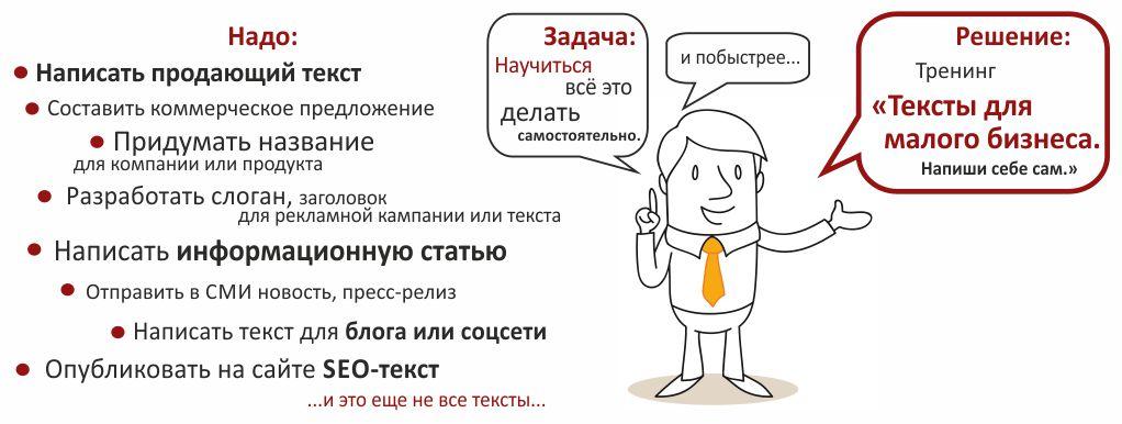 тексты для малого бизнеса