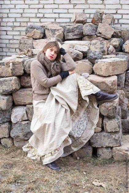 Светлана в своей невероятной бохо-юбке