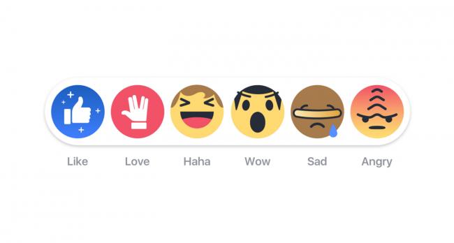 Фейсбук научился показывать эмоции