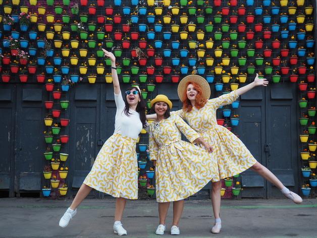 Девичники Make A Dress - яркие плятья и фотосессии